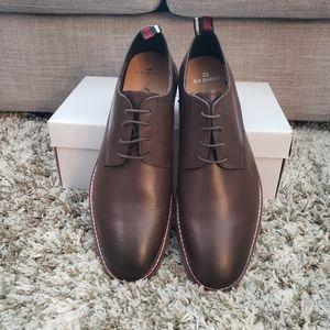 Ben Sherman Plain Toe Dark Brown Derby Shoe